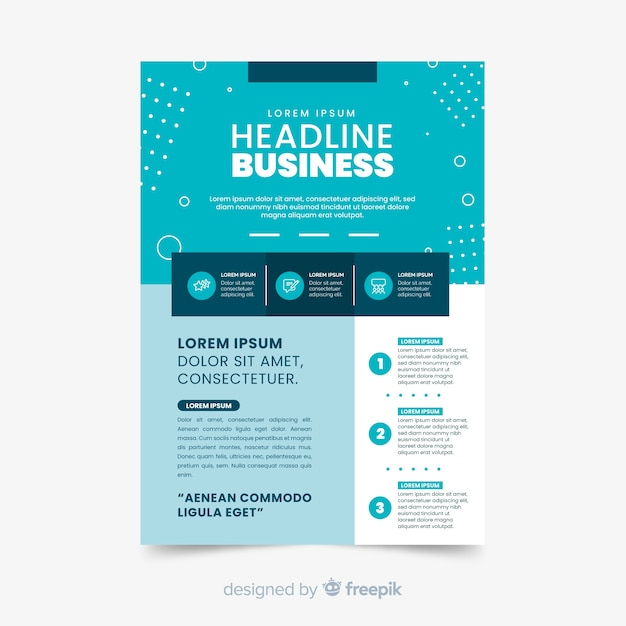 Business abstract flyer template Free Vector