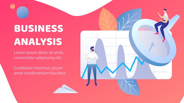 Business analysis abstract banner vector template Premium Vector