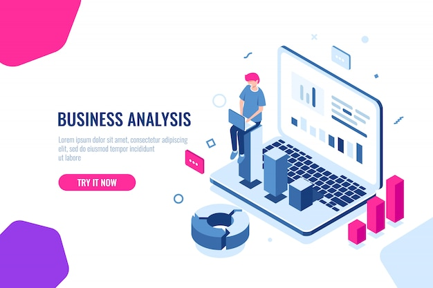 Business analysis Free Vector