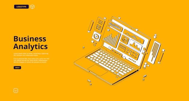 Pagina di destinazione dell'analisi aziendale Vettore gratuito