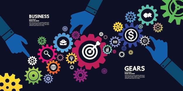 ビジネスと成功のターゲットと目標の焦点図。 Premiumベクター