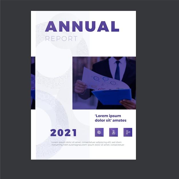 Modello di relazione annuale aziendale Vettore gratuito