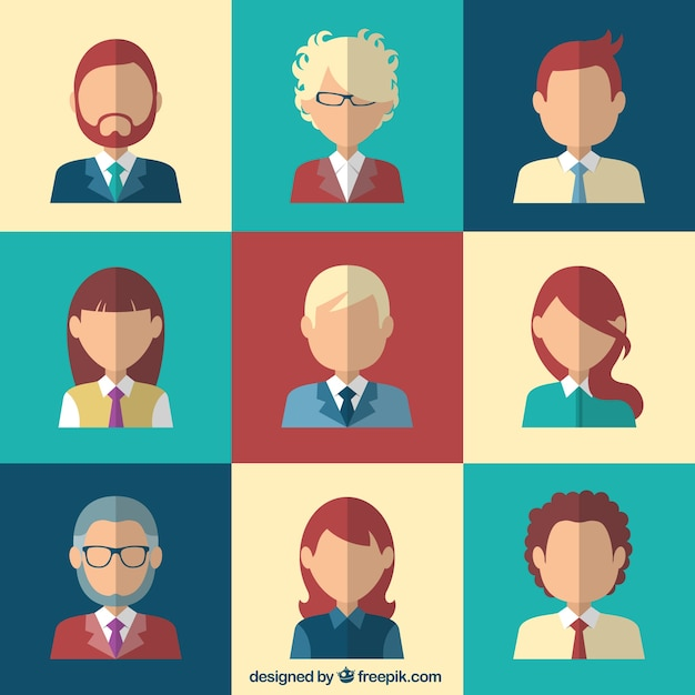 Business avatars collection