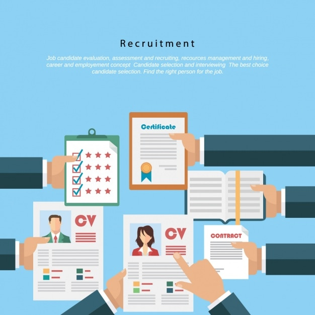 Recruitment vectors photos and psd files free download for Design recruitment agencies