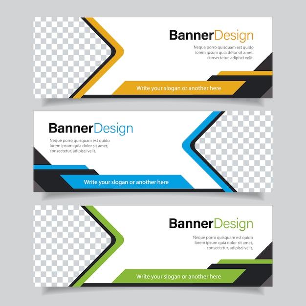 Business banner set Premium Vector