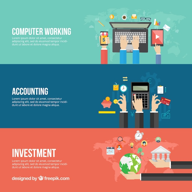 Business banners template vector free download business banners template free vector accmission Gallery