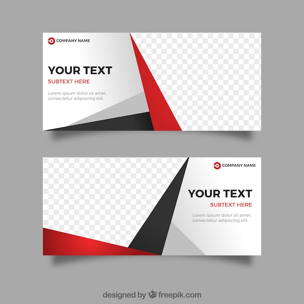 Business banners with abstract shapes