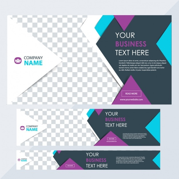 Business banners with different sizes Free Vector