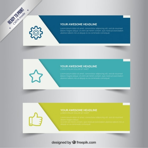 Business banners Free Vector