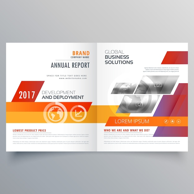 Vector Brochure Flyer Magazine Folder T Shirt Cover: Business Bi Fold Brochure Or Magazine Cover Page Design