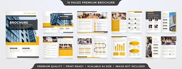 ビジネス二つ折りパンフレット Premiumベクター