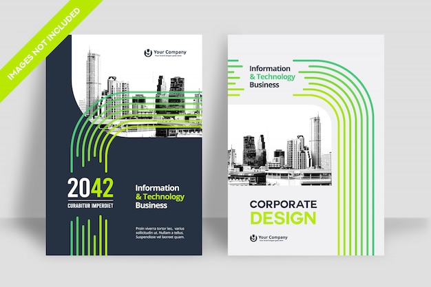 Business book cover design template Premium Vector