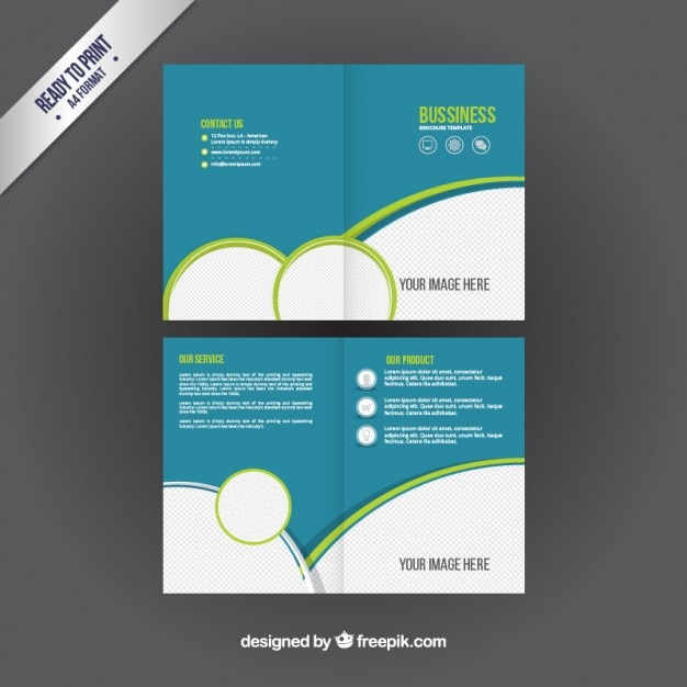 business booklet vector free download