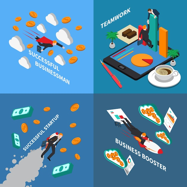 Business booster concept illustration Free Vector