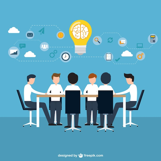 Business brainstorming concept Free Vector