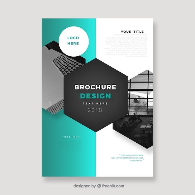 Business brochure in a5 size with abstract style Vector