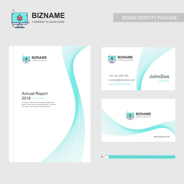 Business brochure and card Free Vector