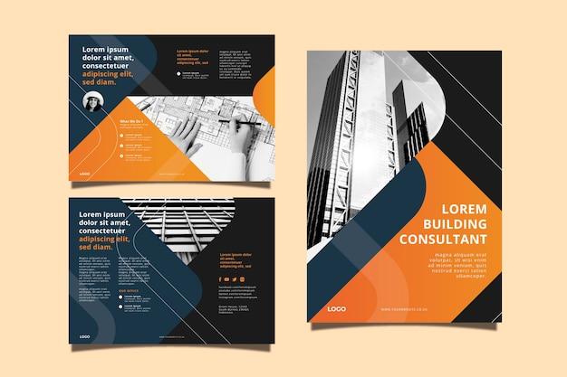 Шаблон концепции бизнес брошюры Premium векторы