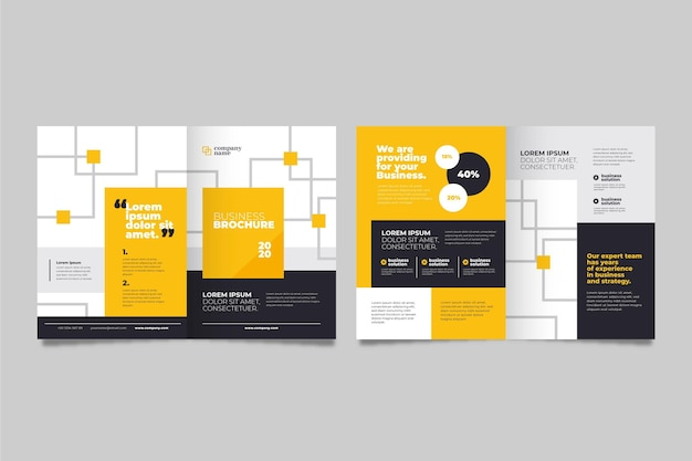 Концепция бизнес брошюры Бесплатные векторы