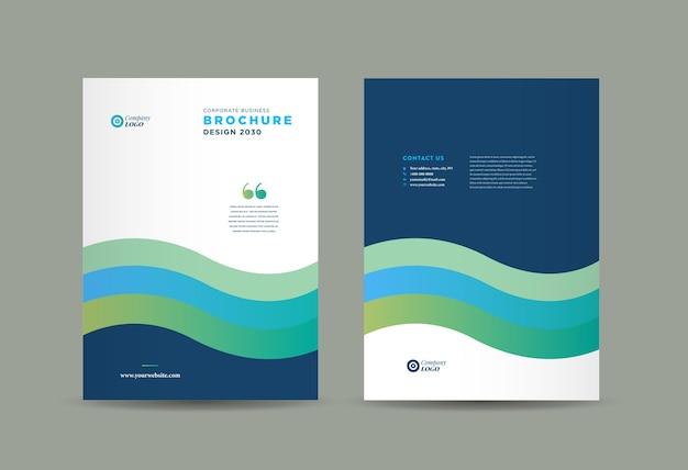 Дизайн обложки бизнес-брошюры, годовой отчет и обложка профиля компании, буклет. Premium векторы