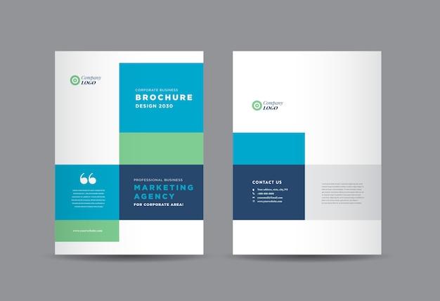 ビジネスパンフレットの表紙のデザイン、年次報告書および会社概要の表紙、小冊子。 Premiumベクター