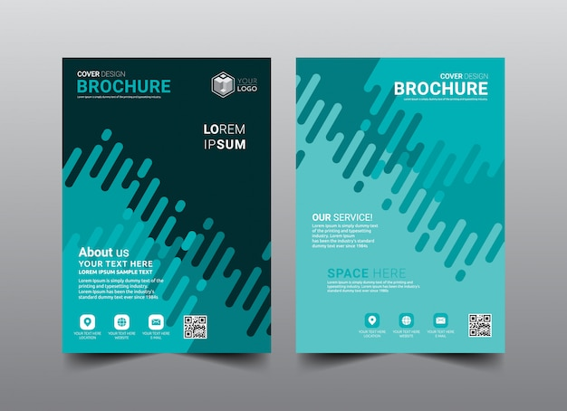 Business brochure cover layout template design. Premium Vector