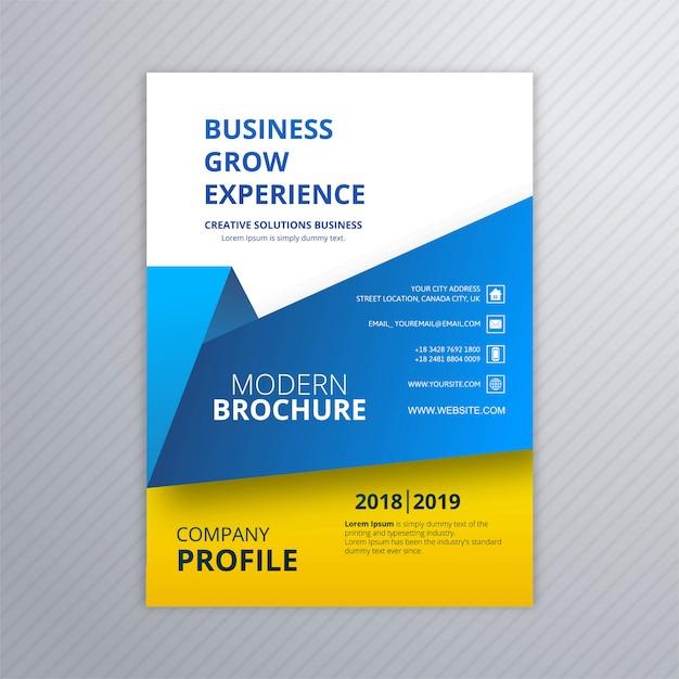 Business brochure creative template design vector Premium Vector