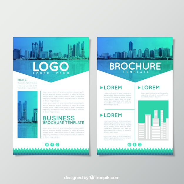 Business Brochure Design Vector  Free Download