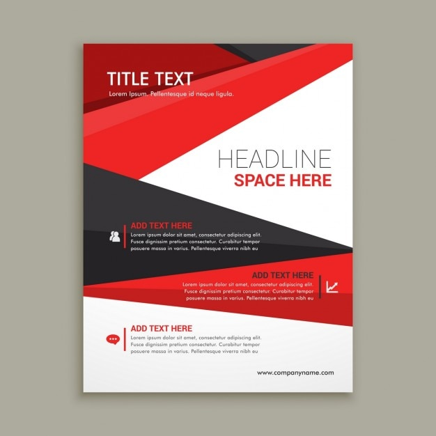Business Brochure Flyer Design With Red Shapes Vector  Free Download