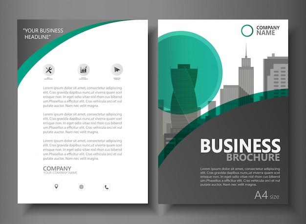 Шаблон векторного шаблона бизнес-брошюры Premium векторы
