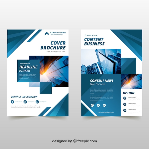 Business brochure in a5 size with flat style vector free download business brochure in a5 size with flat style free vector colourmoves