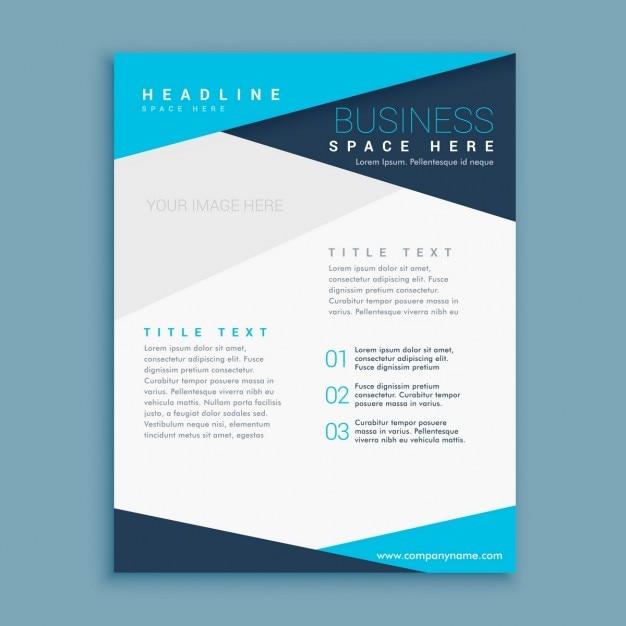 business brochure in minimalist design vector free download