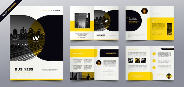 Business brochure pages  template Premium Vector