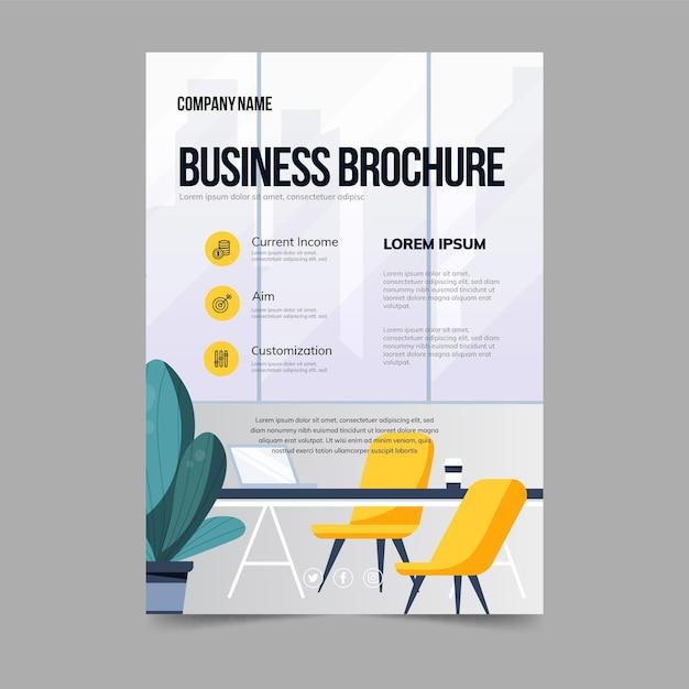 Modello di poster brochure aziendale Vettore gratuito