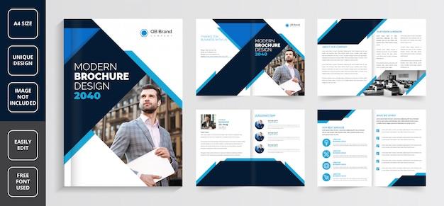 Шаблон бизнес-брошюры, шаблон творческой брошюры, шаблон корпоративной брошюры, профиль компании шаблон брошюры, шаблон бизнес-брошюры «страницы», шаблон бизнес-брошюры на 8 страниц, Premium векторы