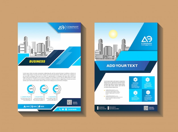 Business brochure     template flyer layout poster magazine annual report Premium Vector