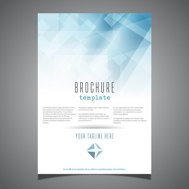 Beautiful Business Brochure Template In Abstract Style Free Vector