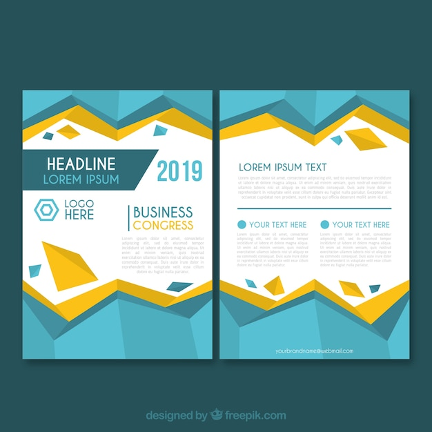 Business brochure template in size a5 Free Vector