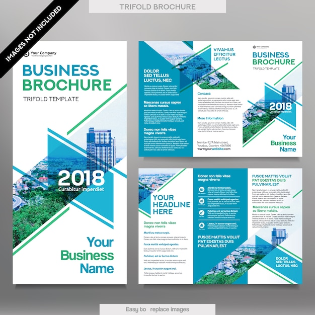 Business Brochure Template In Tri Fold Layout Corporate Design