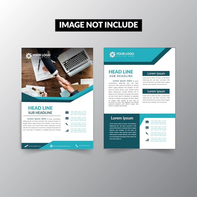 business brochure template profesional premium vector