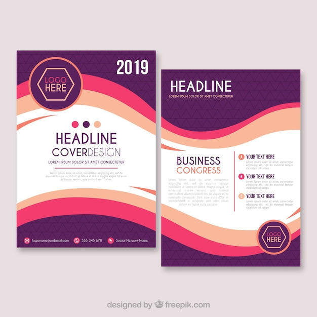 business brochure template in size a5 vector