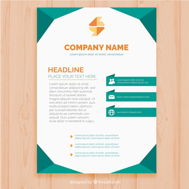 Business brochure template with color forms