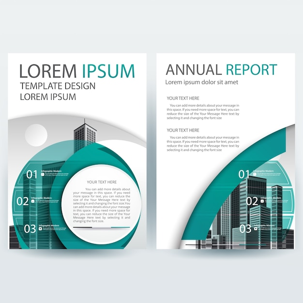 Business brochure template with Green Round shapes