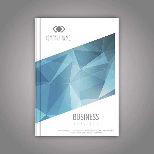 Business brochure template with a low poly design Free Vector