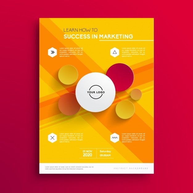 Business brochure template Free Vector