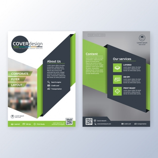 Sample Brochure Templates: Business Brochure Template Vector