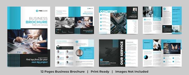 Business brochure template Premium Vector