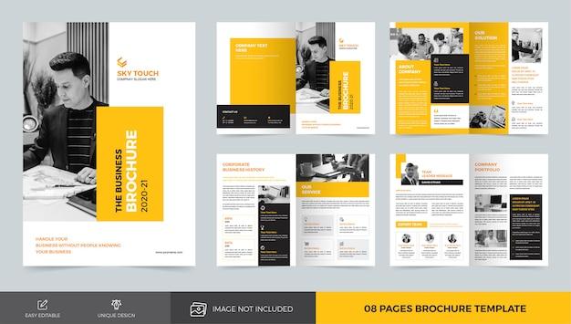 ビジネスパンフレットのテンプレート Premiumベクター