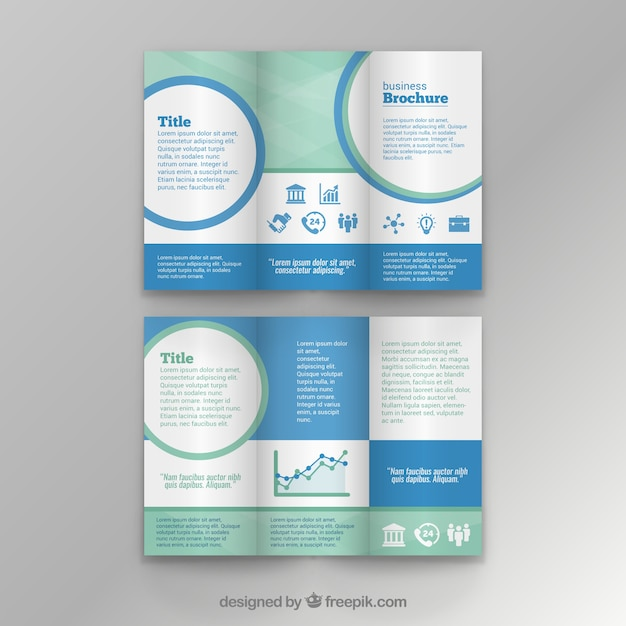 Business Brochure Template Vector Free Download - Editable brochure templates