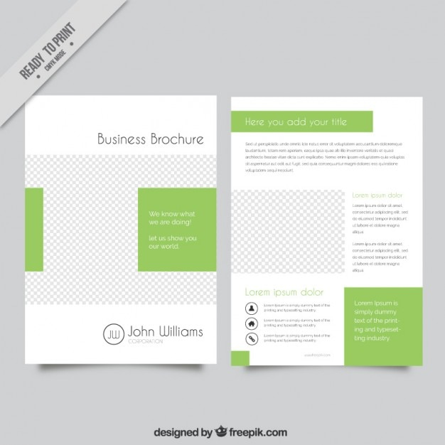 Business brochure template vector free download for Free corporate brochure templates